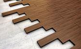 Dark wooden parquet — Stock Photo