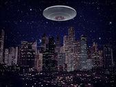 Ufo ruimteschip — Stockfoto