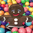Stock Photo: Christmas gingerbread man