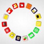 Web icons composing a perfect circle — Stock Photo #14054466