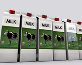 Milk packages — Stock fotografie