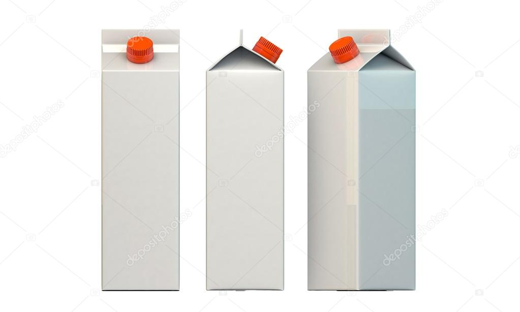 Milk package isolated on white background — Lizenzfreies Foto #14128067