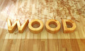 Wood font — Stock Photo