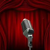 Old microphone — Stock fotografie