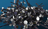 Satélites — Foto Stock