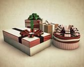 Eski fotoğraf hediyeler — Stok fotoğraf