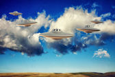 Ufo flying — Stock Photo