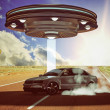 Ufo abduction — Stock Photo #23092042