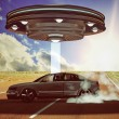 Ufo abduction — Stock Photo #23096920
