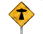 Ufo sign — Stock Photo