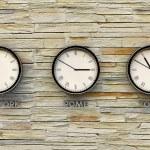 Metal clocks — Stock Photo