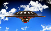 Unidentified object flying — Stock Photo