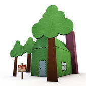 Paper house — Stock Photo