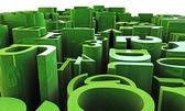 Números e letras verdes — Foto Stock