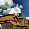 Stock Photo: Caterpillar compactor