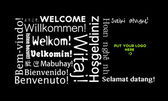 Welcome message in all languages — Stock Photo