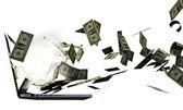 Dollari dal portatile — Foto Stock