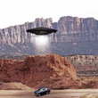 Stock Photo: Ufo abdution