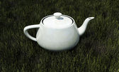 White teapot — Stock Photo