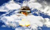 Unidentified flying object — Stock Photo