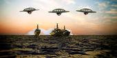 Battleship intergalactic — Stock Photo