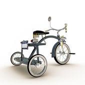 голубой трехколесный велосипед — Стоковое фото