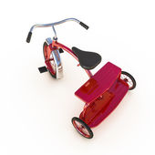 Red tricycle — Stock Photo