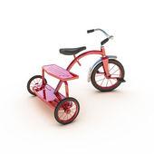 красный трицикл — Стоковое фото