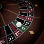 White ball on roulette wheel — Stock Photo