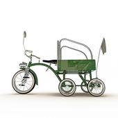 Grüne dreirad — Stockfoto