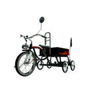 Black tricycle — Stock Photo