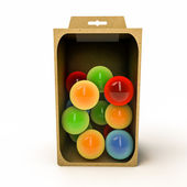 Spheres in a box — Stock Photo