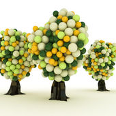 Gumball trees — Stock Photo