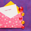 Beautiful envelope with note — Stock Photo #22850370
