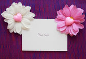 Blank card Valentine — Stock Photo