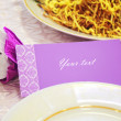 Card for wedding dinner — Stock Photo #22985466