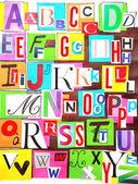 Alphabet color — Stock Photo
