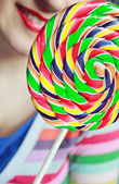The girl with a Lollipop — Stock Photo