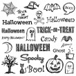 Halloween hand-drawn elements — Stock Vector