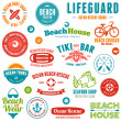 Royalty-Free Stock Vector Image: Beach badges and emblems