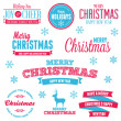 Christmas holiday labels — Image vectorielle