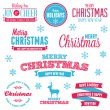 Christmas holiday labels - Image vectorielle