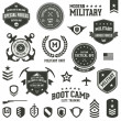 Stock Vector: Military badges