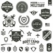 Military and armed forces badges and labels — Stock Vector #14693601