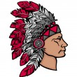 Vector de stock : Native Americmin headdress