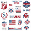 Made in the USA designs — Vettoriali Stock
