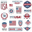 Made in the USA designs — Stok Vektör