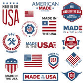 Made in the USA designs — Vettoriale Stock