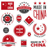 Made in China designs — Stock Vector