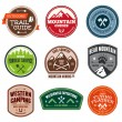 Outdoor badges — Stok Vektör